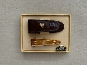 Very Rare vintage USA TRIM Crouton 22KT Gold Plated Nail Clipper 1940's NEW