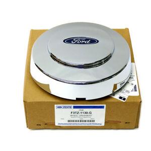 OEM NEW Wheel Hub Center Cap Chrome w/ Logo 93-97 F-Series Trucks 2WD F3TZ1130G