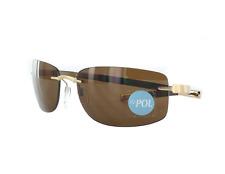 Silhouette 8641 6129 Frames Gold Tone Authentic Polarized Sunglasses