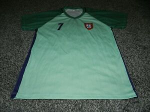 RENALDO #7 REPLICA PORTUGAL SOCCER JERSEY in GREEN MADE in PERU SIZE MEDIUM