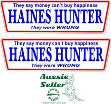 HAINES HUNTER  stickers TWO (2)  200 x 60 mm each