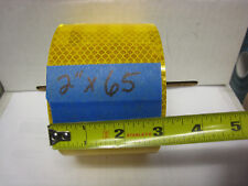 "AMBER YELLOW  Reflective   Conspicuity  Tape 3"" x 65 ft"
