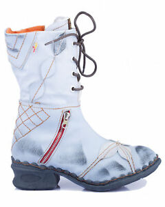 TMA 5707 Damen Stiefel Winter gefüttert Echt Leder weiß alle Größen 36-42