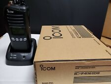 1 NEVER USED IC-F4161DS #71 USA01 NEW IN BOX WITH EXTRA BATTERY WITH NEW CHARGER