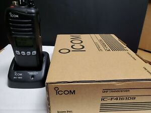 1 NEVER USED IC-F4161DS #71 USA01 NEW IN BOX WITH EXTRA BATTERY WITH CHARGER