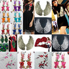 New Embroidered Flower Sequin Peacock Applique Iron On Sew On Patch Clothing DIY