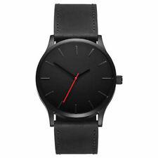 Men's Sport Dress Analog Quartz Black Brown Tan Genuine Leather Luxury Watch
