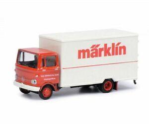 SCHUCO HO scale ~ MERCEDES 'MARKLIN' BOX VAN ~ assembled DIECAST 1/87 model