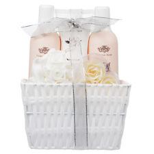 5 Piece Ladies Lovely Fashion Rose Body & Bath Reusable Ribbon Basket Gift Set