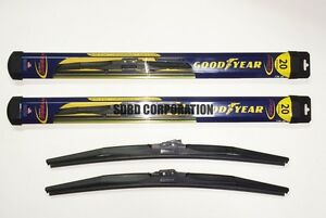 2010 Ford Super Duty Pickup Goodyear Hybrid Style Wiper Blade Set of 2