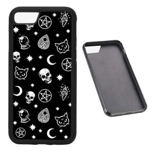 Skulls and Pagans Witchcraft RUBBER phone case Fits iPhone