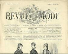 REVUE DE LA MODE N° 468 = 19 décembre 1880 = CROCHET + JABOTS + CHAPEAUX