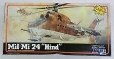 Vintage MPC 1/72 Mi1 Mi 24 Hind Helicopter Model Kit 1984