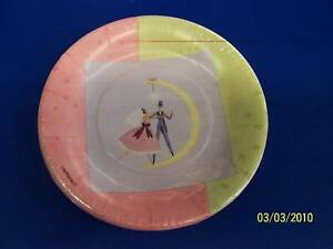 "First Dance Pink Green Bridal Shower Wedding Party 7"" Plates"