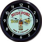 "Hudepohl Brewing Co Beer Tray Wall Clock Cincinnati Ohio Ale Lager Man Cave 10"""
