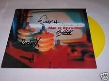 Man Or Astro-Man?, Experiment Zero, AUTOGRAPHED, Yellow Wax, Poster, 1st Press