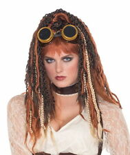 SteamPunk Cosplay Victorian Adult Womens Havoc Dreads Wig Costume, New Unworn