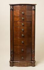 """Hives and Honey """"ANTOINETTE"""" Jewelry Armoire Antique Walnut"""