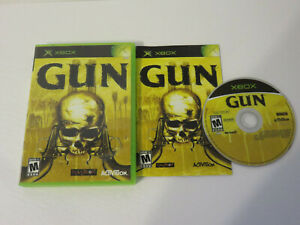 GUN NEVERSOFT ACTIVISION 100% COMPLETE ORIGINAL XBOX MATURE WILD WEST GOODNESS