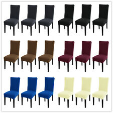 1/4/6pcs Spandex Stretch Dining Chair Covers Slipcovers Home Dining Room
