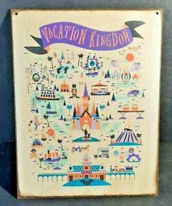 WALT DISNEY WORLD Vacation Kingdom Handmade Disney World vintage sign