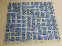 United States Scott 1393d the 7 cent Benjamin Franklin sheet of 100 stamps