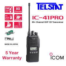 ICOM IC 41PRO IC-41PRO Walkie Talkie UHF CB Handheld Radio (Replaces  IC41W)