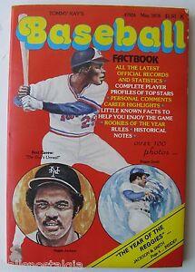 1978 Tommy Kay's Baseball Fact Book - Rod Carew, Reggie Jackson, Reg. Smith, etc