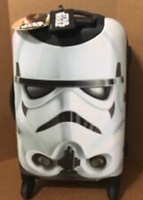 DISNEY PARKS STAR WARS STORM TROOPERS SUITCASE WITH WHEELS WHITE