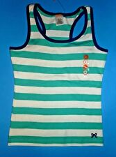 NWT Gymboree girls teal green striped racer back tank top size 6