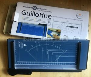 lc1) A4 paper cutting guillotine new in box sliding blade knife