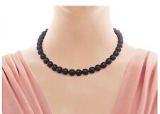 TIFFANY & CO ZIEGFELD COLLECTION BLACK ONYX BEAD BALL NECKLACE STUNNING!!