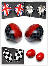 Union Jack checker Side Wing Mirror Cover Caps For Bmw Mini Cooper F56 F55