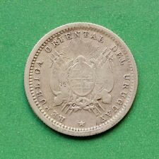 1877 Uruguay Silver 10 Centimos SNo42774