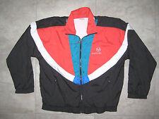 Vintage Red Black Blue SERGIO TACCHINI Windbreaker Light Rain Jacket 44 USED