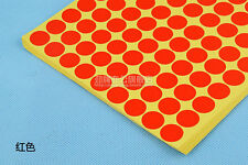 ANY SIZE Coloured Dot Stickers Round Spot Circles Dots Paper Labels 8 Colors NEW