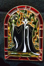 Pin Disney Sleeping Beauty Villain Maleficent Maléfice Stained Glass LE250 Jumbo