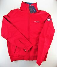 MEN'S TOMMY HILFIGER YACHT YACHTING JACKET WINDBREAKER WATERSTOP RED M MEDIUM