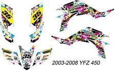 Yamaha YFZ450  ATV Graphic Kit  2003-2008 -=CUSTOM=-
