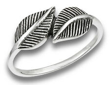 Sterling Silver Hugging Leaves Ladies Ring Size 9