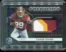 Chase Young 2020 Panini Elements SICK PATCH FREQUENCY 14/27 RC ROOKIE Redskins