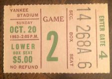 10/20/1963 NEW YORK GIANTS vs DALLAS COWBOYS NFL Ticket Stub McElhenny Tittle
