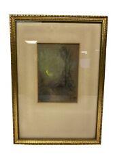 Glen Cooper Henshaw Art Pastel Painting Abstract Moonlight