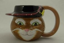 Ceramic Coffee/Tea/Cocoa Mug~Puss In Boots 3D Head ~ Shrek 1 & 2 2004 DreamWorks