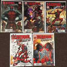 Marvel Deadpool Corps lot # 2,5,6,9,10 NM Rob Liefeld X-Force X-Men Cable comics