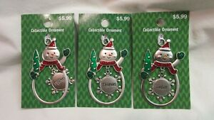 NEW PERSONALIZED SNOWMAN CHRISTMAS ORNAMENTS w/ YOUR NAME - SEE IF WE HAVE YOURS