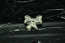925 STERLING SILVER SMALL BOW SHAPED PIN BROOCH #X-9786
