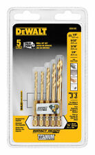 DeWalt  Titanium  Impact Ready  Drill Bit Set  5 pc.