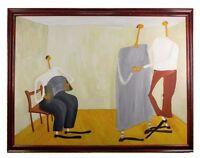 """Dance Lesson"" by Ann Krasner Framed Oil Painting on Canvas 40""x53"""