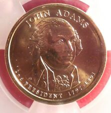 Beautiful First Day Issue 2007 D ICG MS 67 Adams Presidential Dollar